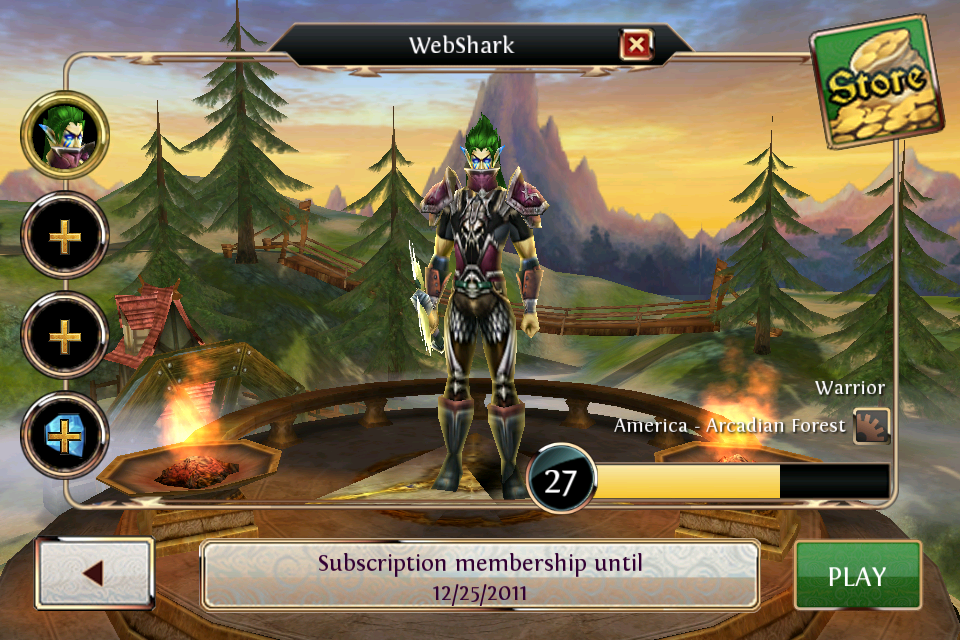 Welcome Screen of Order & Chaos