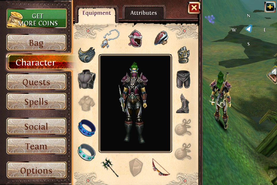 My belongings in Order & Chaos Online